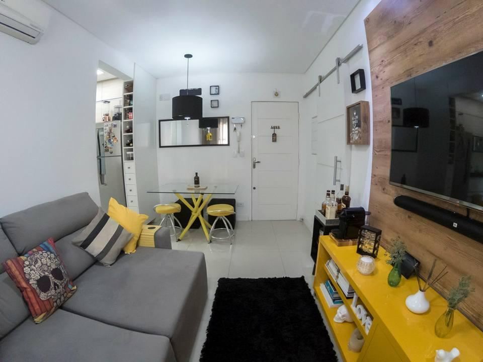 Apartamento de 1 dormitório todo reformado em São Vicente