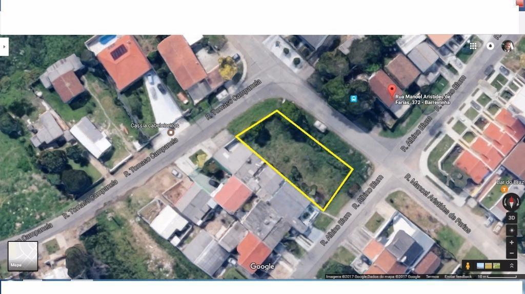 Amplo terreno no melhor do bairro Barreirinha - ZR-3!