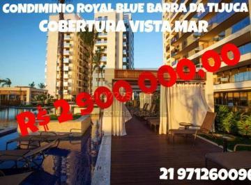Vendo cobertura Alto Luxo 4 suites com 367 metros -Royal Blue Alto Luxo- Barra da Tijuca - RJ