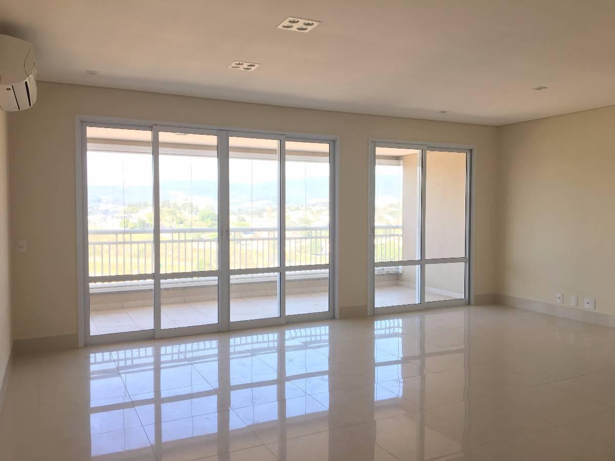Locação apartamento no Infinity com 147 m² - 3 vagas - Terraço gourmet - Planejados
