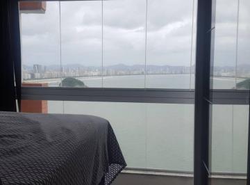 Lindo apartamento porteira fechada 1 dorm com vista plena do mar!