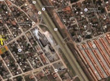 Localização dos terrenos com muita habitação