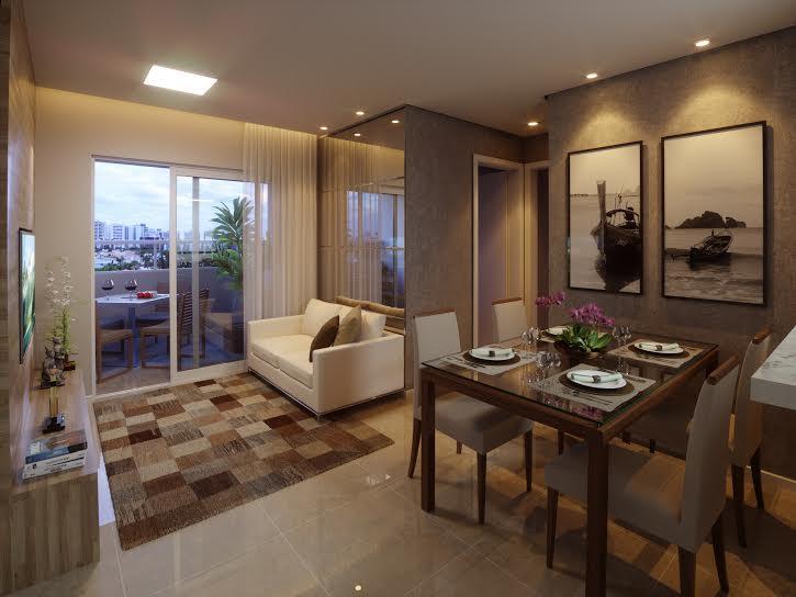 Apartamento 2 quartos, suíte, varanda, novo, R.S.Francisco no Jardim Santa Tereza