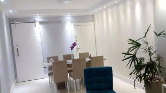 Lindo apartamento planejado com 2 dormitórios e dependência completa, Santos