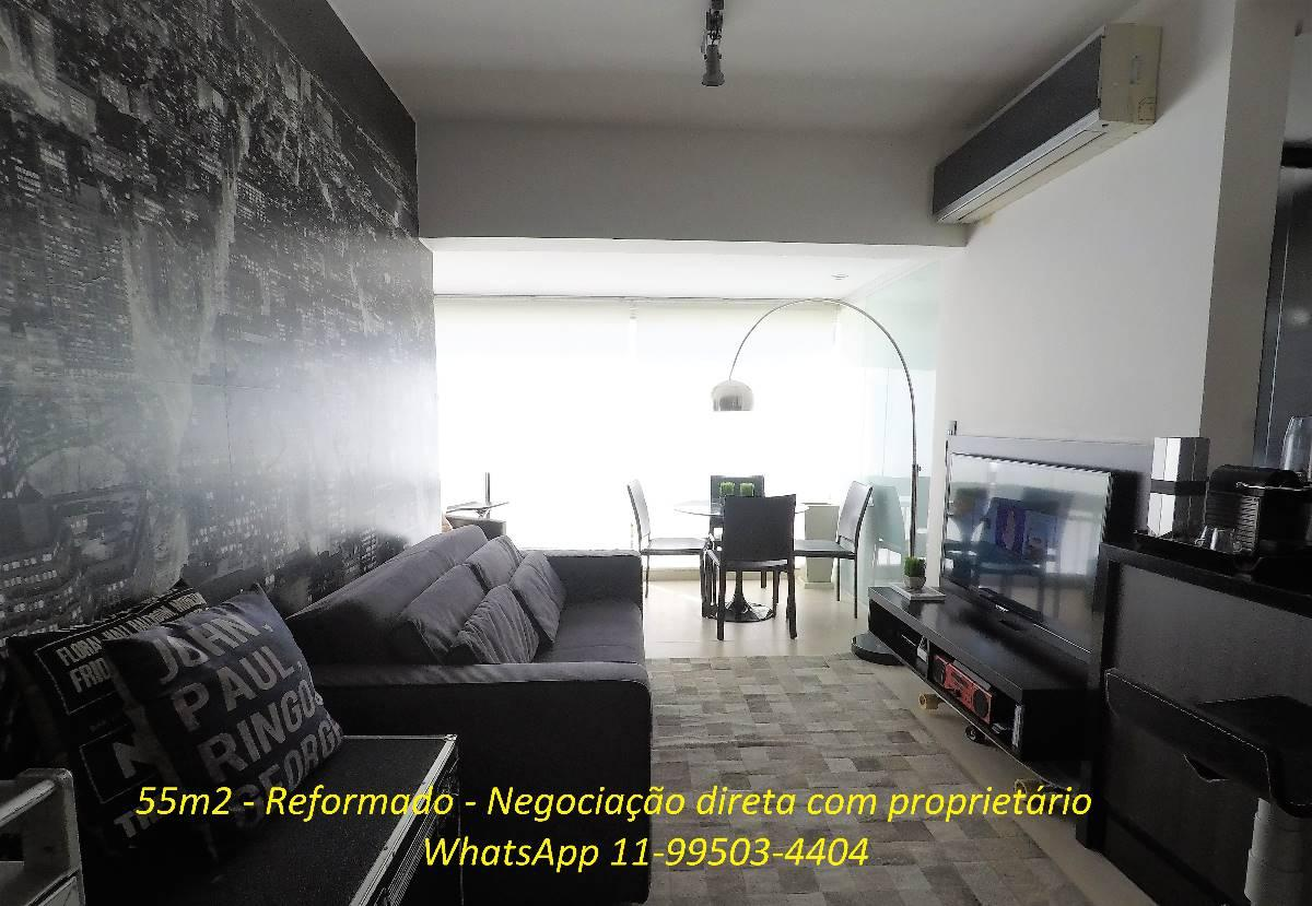 Apartamento Cyrela Ed. Çiragan c/ 55m² , reformado e direto com proprietário!