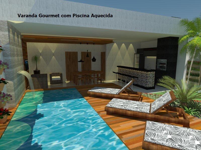 Vicente Pires casa 3 quartos, 3 suite casa nova