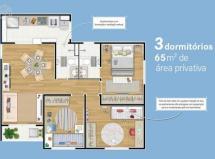 Apartamento de 3 dormitórios  65m2  - últimas unidades!
