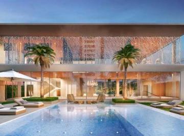 Lounge coberto em dois pavimentos, com piscina, SPA, fitness e quadra de tênis