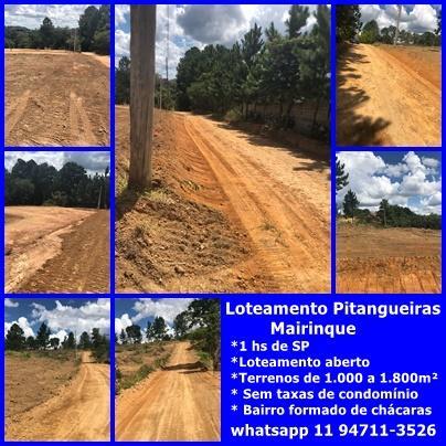 LANÇAMENTO - Loteamento  Sítio Pitangueiras terrenos 1.500m² a 1.800m² 1 hs SP