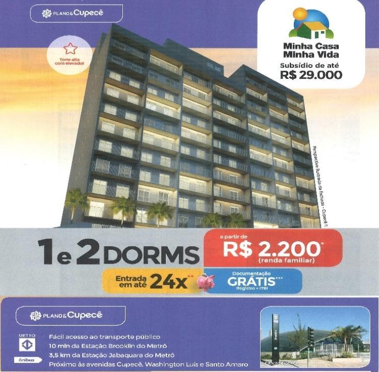 Apartamento - Avenida Cupece - 26m² a 37m² - Prox a Av Washigton Luis
