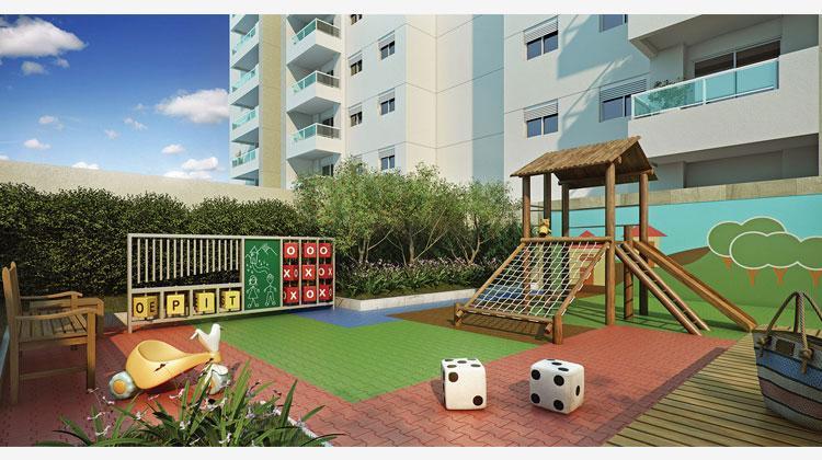 Quality House Ana Costa com churrasqueira na varanda