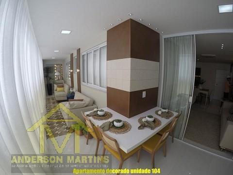 Luxo 4 quartos na praia da costa residencial Al Mare
