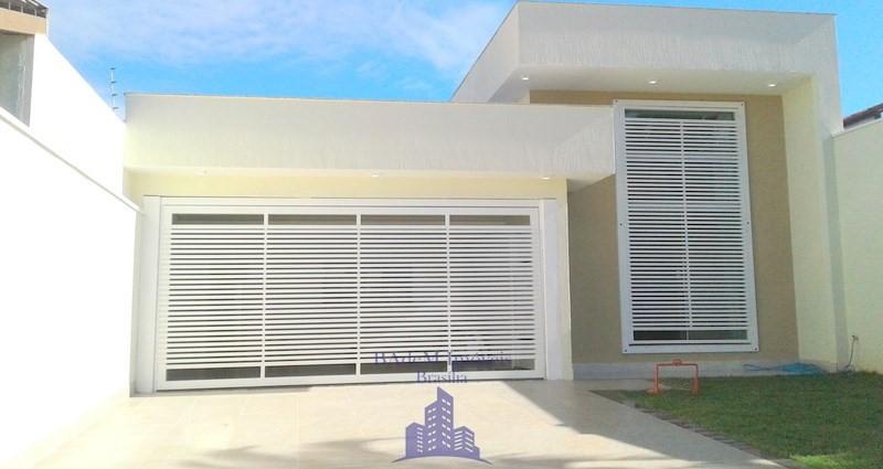 Casa (Moderna) QNF 03 Sala Com Pé Direito Duplo 3 Quartos Sendo 1 Suíte Financia