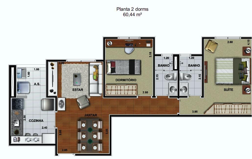 Apartamento Barato em Barueri 2 Quartos Com Suíte Apenas 239 Mil 61mº