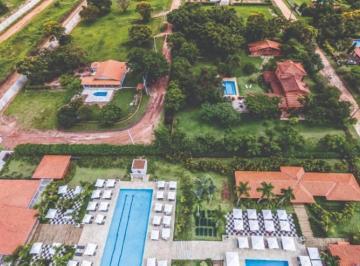Vista aérea do Clube de Lazer Sabiás e da Quadra LS