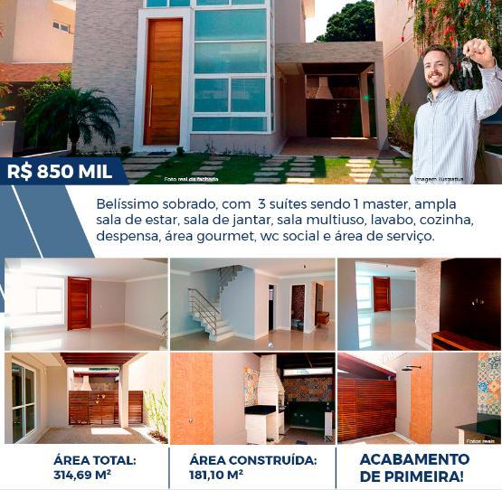 SOBRADO - CONDOMÍNIO MAISON BLANCH - INDAIATUBA-SP