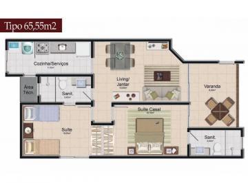 Apartamento de 2 quartos, Guarajuba