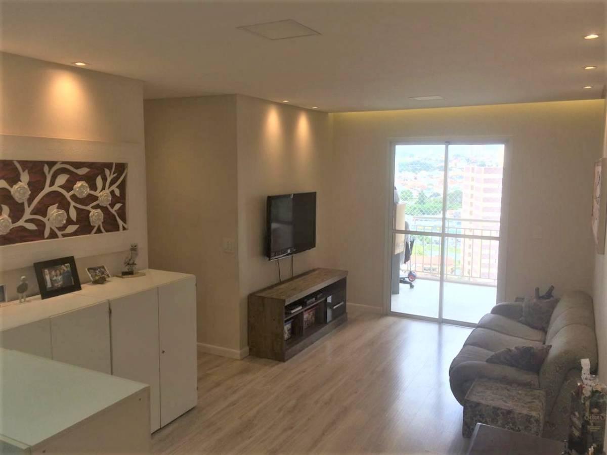 Apartamento 80m², 3 Dormitórios, 1 Suite, 2 Vagas, Varanda Gourmet, Andar Alto