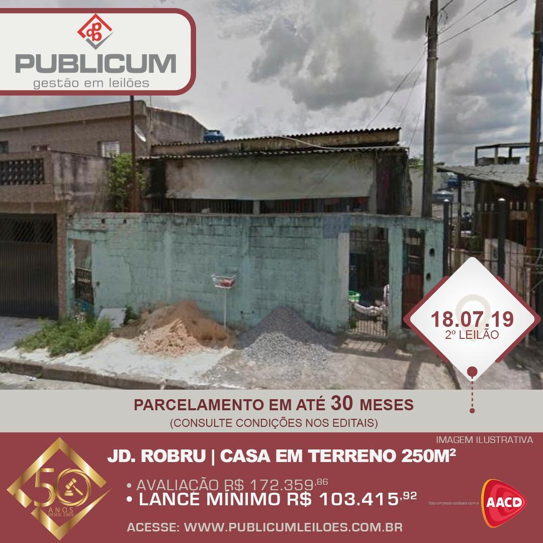 Jd. Robru - Casa em Terreno de 250m2 | Leilão Online 18.07