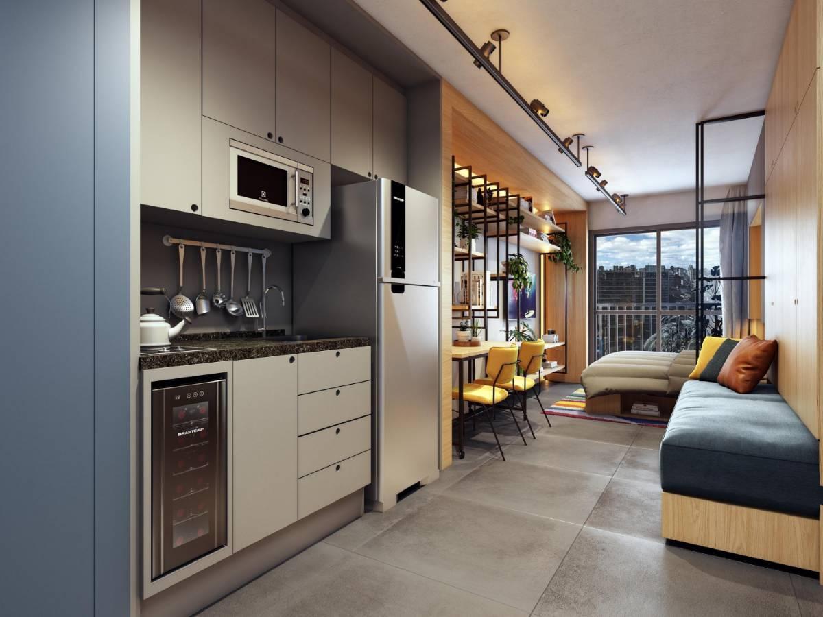 Apartamentos de 1 dorm à 250 metros do Metrô Faria Lima.