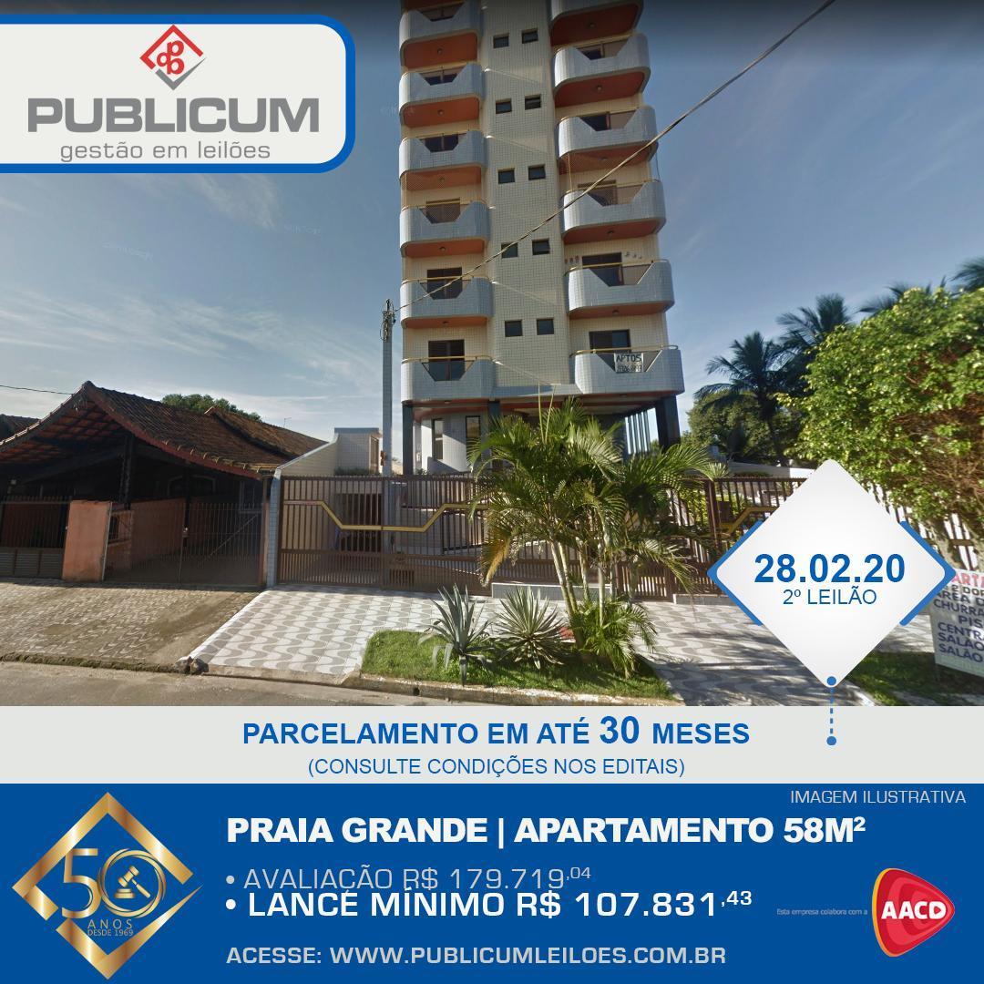 Praia Grande | Apartamento 58m2 - Leilão 28.02