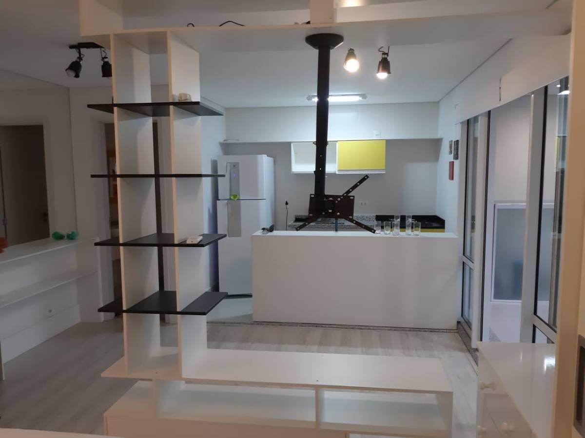apartamento 1 dormitório campo belo com suite e lavabo mobiliado