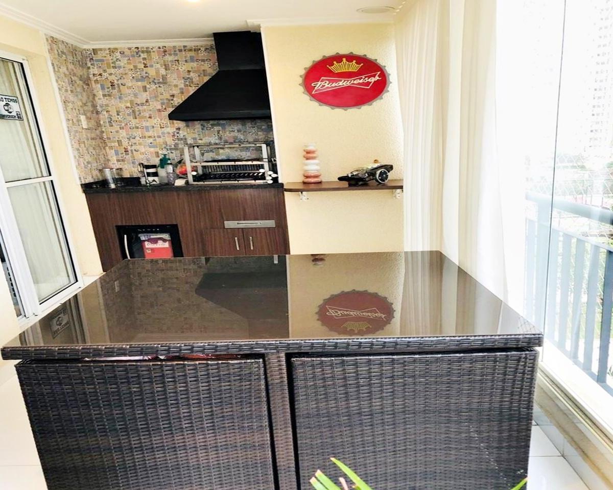 Apartamento Essence Mobiliado 82m², Varanda Gourmet, 2 vagas