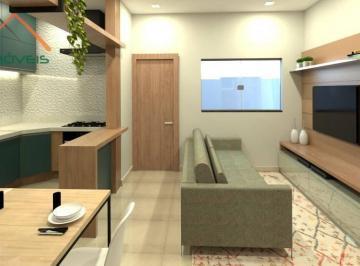Perspectiva - Entrada, Sala de Estar e Jantar e Cozinha