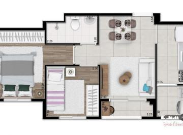 Apartamento · 39m² · 2 Quartos · 1 Vaga