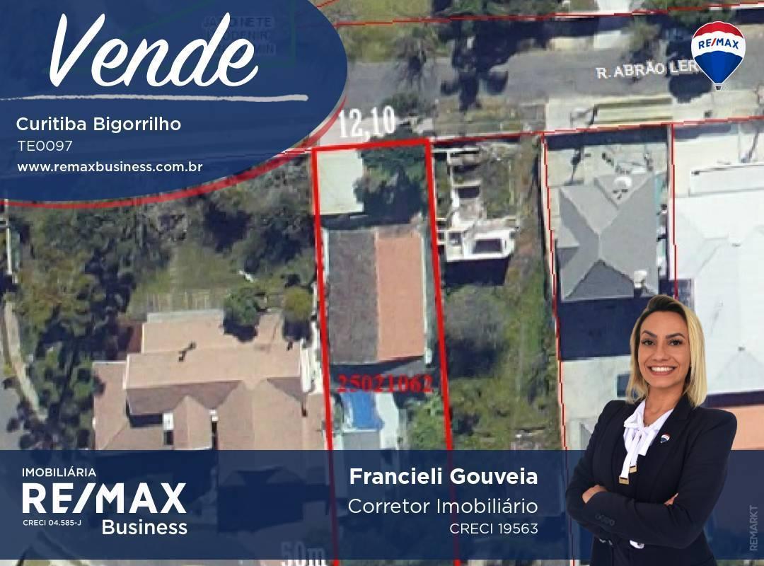 Terreno à venda, 605 m² por R$ 690.000,00 - Bigorrilho - Curitiba/PR