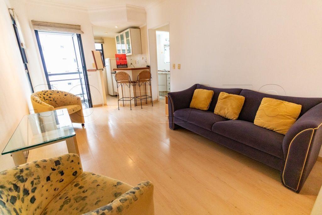 Flat na Vila Nova Conceição com 50m² disponível à venda.