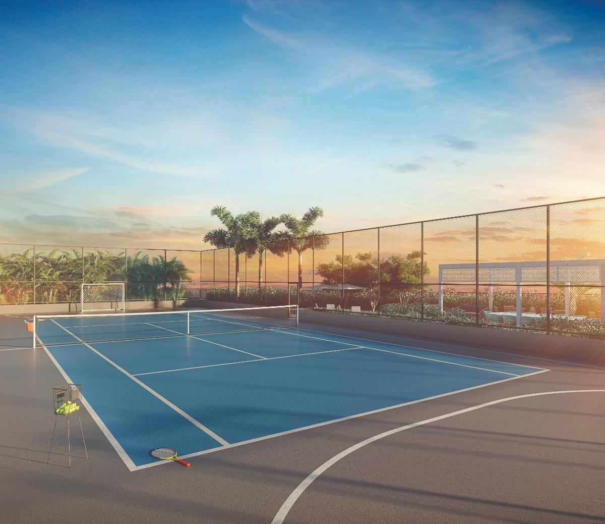Perspectiva Ilustrada da Quadra de Tenis