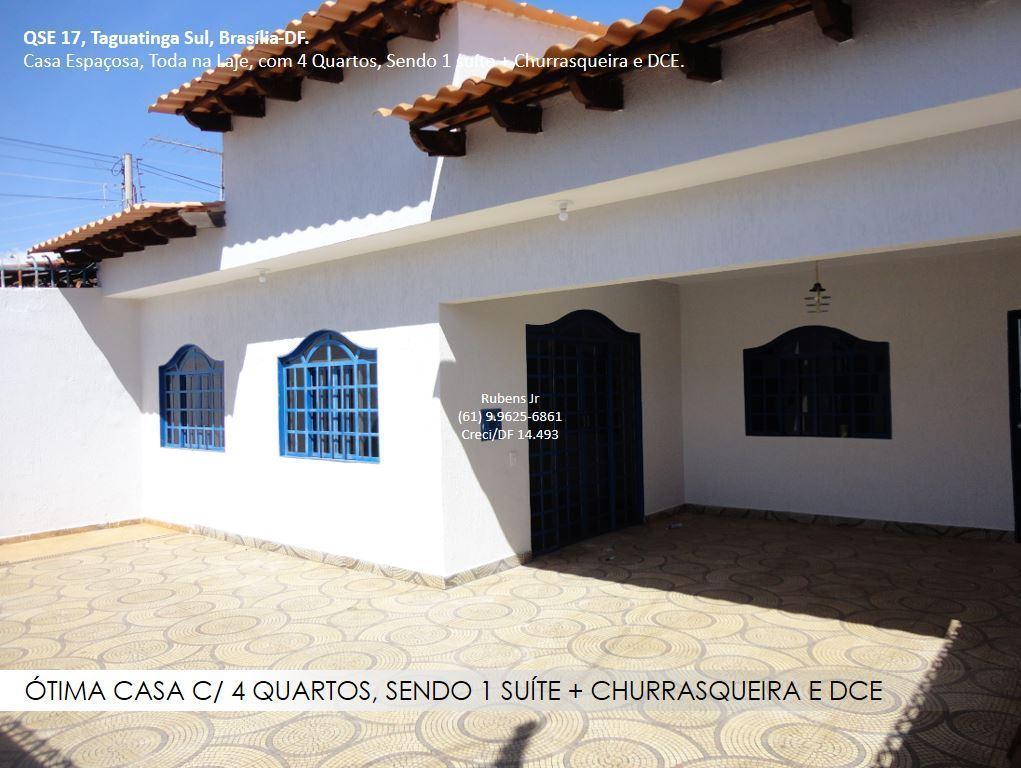 Ótima casa c/ 4 qts, sendo 1 suíte + churrasqueira e DCE