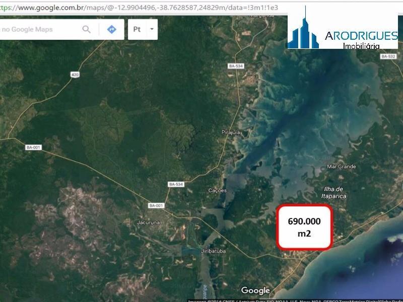 terreno à venda na ilha de itaparica, bahia