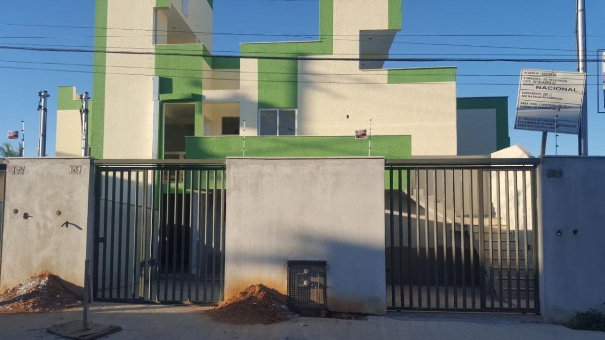 casa 02 quartos com vaga de garagem bairro nacional