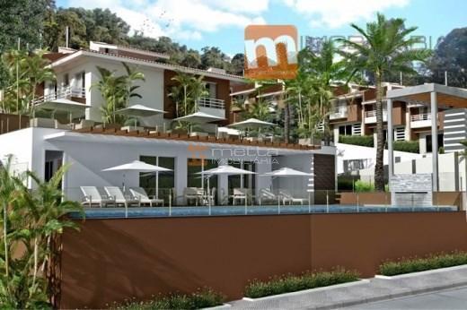 casa nova com 3 dormitórios c 1 suite em condomínio fechado no sambaqui