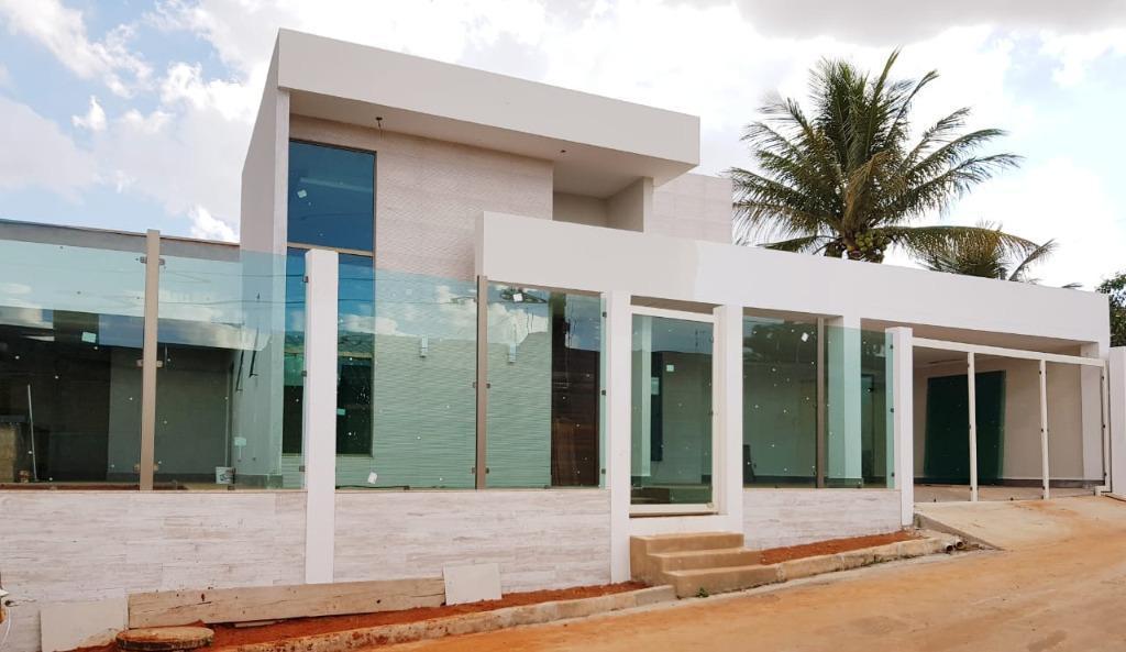 linda casa moderna alto padrão 04 suítes, em modelo de construção com 5 meses