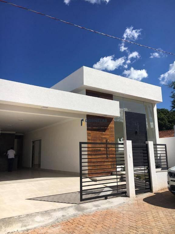 casa nova e moderna 3 suítes dentro de condomínio fechado