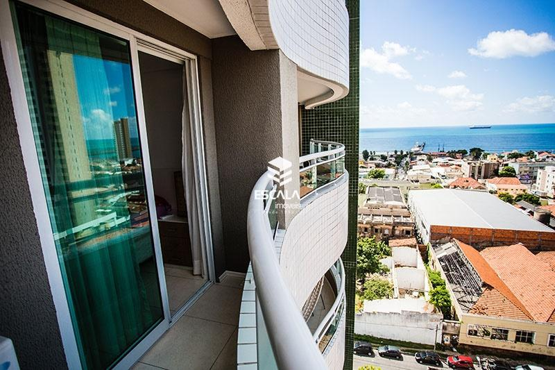 apartamento com 1 quarto à venda, 46 m , vista mar, mobiliado - praia de iracema - fortaleza ce