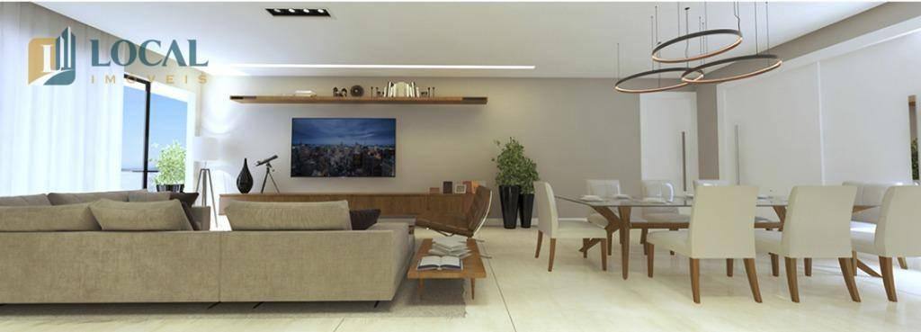apartamento alto padrão com 4 quartos no bairro santa helena