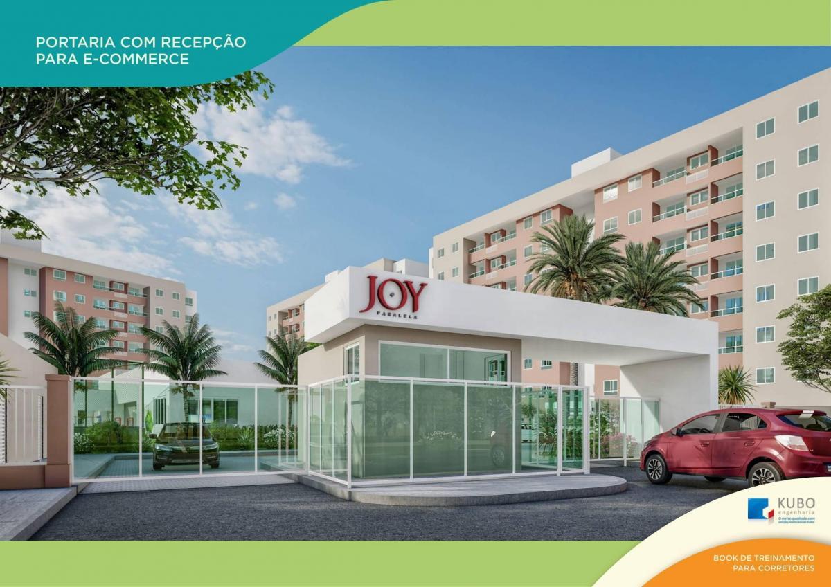Apartamento para venda No Joy possui 56m² com 2/4 Suíte e varanda Na Paralela!